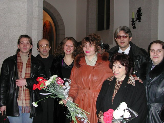 My friens in Tashkent congratulated me after  performance of my next works in the Catholic Church Tashkent 2002